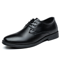 秋冬季新款男士皮鞋男鞋青年商务英伦黑色休闲真皮透气正装鞋子男