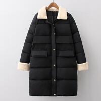 女中长款棉衣冬装韩版加厚面包服羊羔棉袄外套女