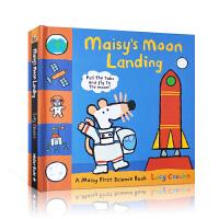 【全店300减110】英文原版 Maisy Moon Landing 小鼠波波登陆月球 儿童启蒙太空科普认知绘本 3D立