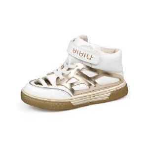 比比我童鞋2017春秋季新款运动鞋童魔术贴高帮休闲鞋百搭鞋  时尚百搭
