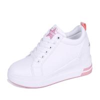女鞋秋季2018新款韩版百搭休闲运动鞋内增高厚底学生冬季加绒棉鞋 加绒