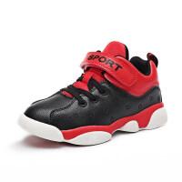 儿童篮球鞋男童秋季新款皮面防水休闲鞋子小孩防滑耐磨运动鞋