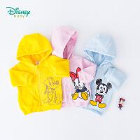 【129元3件】迪士尼Disney童装 男女童保暖摇粒绒连帽外套秋季新品防风上衣193S1195