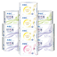 ABC蓝芯KMS清凉舒爽透气卫生巾组合10包共60片