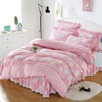 床罩床裙四件套 全棉纯棉1.8m公主风被套床套三件套1.5米床上用品