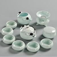 整套日式陶瓷功夫茶具企龙壶茶壶茶杯茶叶罐套装家用简约白瓷