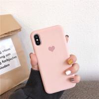 苹果x手机壳xs/max简约爱心青春男女款液态硅胶iPhone6s/7/8plus个性创意情侣8p/ 苹果xs max