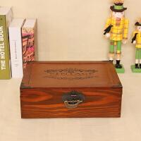 实木质小号大号带锁收纳盒小盒子迷你宝箱箱子储物箱可有锁的锁盒