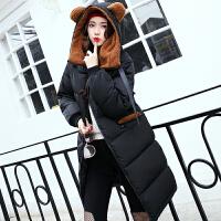 棉衣女中长款韩版冬季可爱学生棉袄外套大码加厚