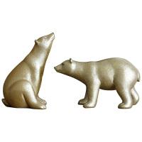 美式乡村个性创意北极熊摆件可爱室内房间咖啡厅样板房装饰品摆设 套装