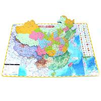 儿童力认知玩具中国地图拼图大号中学生世界地理磁性政区地形