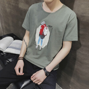 2018夏季新款短袖t恤潮流韩版百搭纯棉半袖衣服男装体恤DS94T30