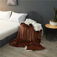法兰绒羊羔绒双层毛毯被套带拉链冬季加厚保暖珊瑚绒双人被套宿舍