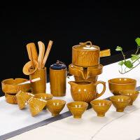 【支持礼品卡】窑变石磨时来运转半全自动功夫茶具套装陶瓷家用防烫泡茶器7en