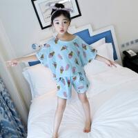夏季儿童睡衣女童短袖宝宝家居内衣新款夏装女大童套装潮