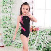 英发女童连体三角多颜色女孩青年 儿童专业训练比赛游泳衣 ET946-3 黑拼粉色