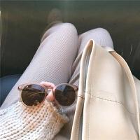 墨镜女2018新款韩国复古茶色个性优雅防紫外线新款太阳镜圆脸潮 茶色