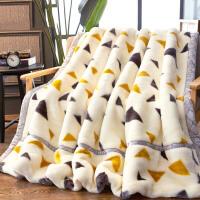 拉舍尔毛毯加厚双层单人双人春秋冬季盖毯珊瑚绒毯子被子 200X230cm 9斤双层加厚