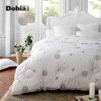 多喜爱家纺新品法式风格印花纯棉面料保暖冬被床上用品被芯被子法克图羽丝绒被