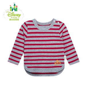 【3件4折】迪士尼Disney 宝宝海军风系列条纹肩开扣上衣 长袖纯棉休闲卫衣153S711