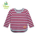 迪士尼 宝宝海军风系列条纹肩开扣上衣 长袖纯棉休闲卫衣153S711