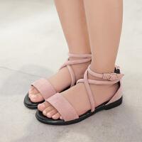 女童凉鞋儿童公主鞋夏季新款学生凉鞋女中大童平底宝宝鞋