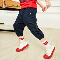 【3件3折价:101.7元】暇步士童装男童七分裤夏装新款儿童工装裤中大童个性休闲短裤