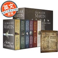冰与火之歌 英文原版 权力的游戏 全集 赠送地图 A Game of Thrones  英文原版小说 A Song of Ice and Fire正版全套1-5(7本)套装