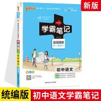 学霸笔记初中语文 2021统编版漫画图解 初中语文七八九年级通用中考语文复习