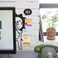韩国可爱文具 电脑屏幕显示器侧边留言板.便签贴板.透明便利贴板