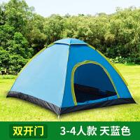 帐篷户外3-4人双人2单人露营野营野外二室一厅全自动家庭加厚防雨