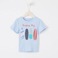 【1件2.5折到手价:24.8】米喜迪mecity童装19夏装新款男童t恤印花针织短袖儿童t恤