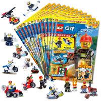 乐高城市期刊杂志合辑(套装共12册)(赠乐高限量玩具)