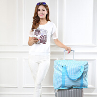 便�y折�B旅行包防水旅行袋女大容量短途手提行李袋可套拉�U行李箱 大