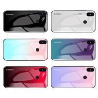 小米红米note7手机壳pro保护套女款note支架玻璃镜面5plus渐变6