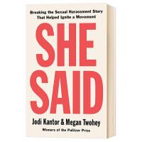 她说 关于ME TOO运动不为人知的故事 英文原版 She Said 纽约时报畅销书籍 英文版进口原版英语书