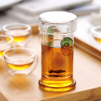 茶壶普洱功夫冲茶器 左茗右器 红茶泡茶器双耳杯过滤玻璃茶具