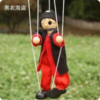 提线木偶人傀儡 木制娃娃纯手工拉线玩具小丑皮影人 儿童早教