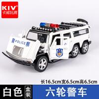 卡威合金警车玩具汽车模型玩具车仿真越野车儿童回力男孩车模
