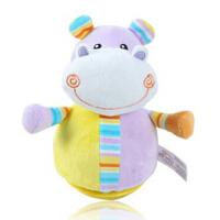 伊诗比蒂 不倒翁河马 婴儿童宝宝益智早教毛绒布制玩具布玩 响铃