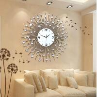欧式相框挂钟客厅创意钟表现代简约时尚照片墙静音挂表石英钟墙钟 20英寸(直径50.5厘米)