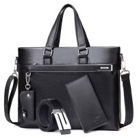 2018新款男包包男士手提包公文包横款单肩包斜挎包电脑包背包