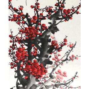 知名画家  王成喜 《聊赠一枝春 》67*44cm,纸本软片,品如图。