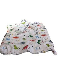 恐龙儿童枕头枕芯1-3-6岁幼儿园午睡宝宝枕四季通用卡通 桔色 小树1.5单被套