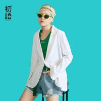 初语长袖小西装女外套春季薄款新款韩版OL职业休闲chic西服