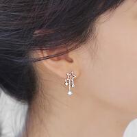 欧丁日韩气质纯银耳针时尚耳钉许愿星星水耳饰女款气质大耳环H019