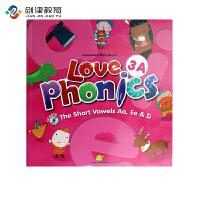 原装进口3-6岁 幼儿英语自然拼读phonics love phoncis 3A 台湾东西图书 零基础英语口音培训
