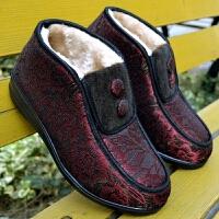 老太太棉鞋冬季布鞋加绒保暖防滑软底中老年妈妈奶奶鞋太太老人棉鞋女ljj