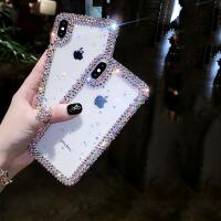 施华洛世奇8plus苹果x手机壳女iphone xs max带钻硅胶XR 潮保护套 iPhone X天鹅白色 (5.8