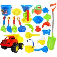儿童沙滩玩具车宝宝玩沙子套装大号婴儿洗澡挖沙漏铲子决明子工具